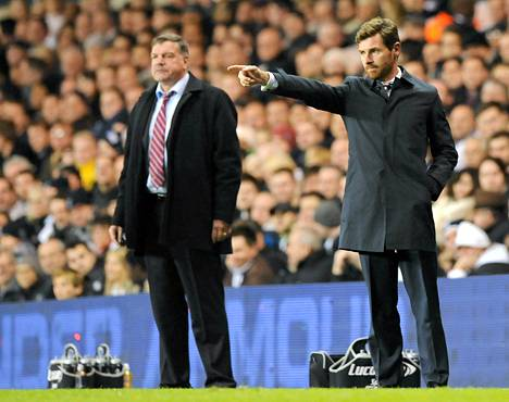 West Hamin manageri Sam Allardyce ja Tottenhamin André Villas-Boas johtivat joukkueidensa peliä sunnuntaina.