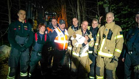 Helsingin pelastuslaitos urakoi tuntikaupalla saadakseen luolastoon juuttuneen koiran ulos.