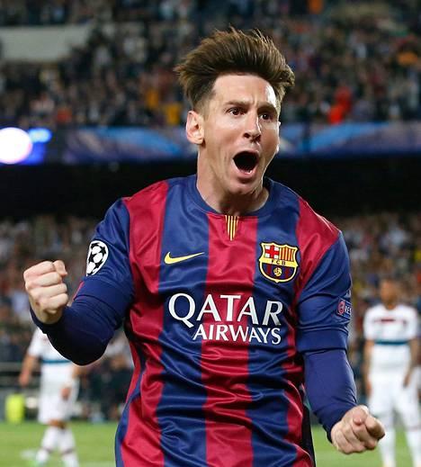 Lionel Messi teki Barcelonalle kaksi maalia.