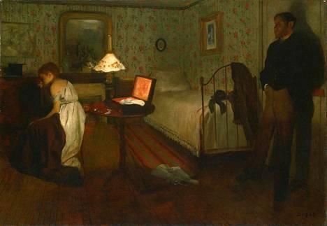 Edgar Degas: Intérieur (Sisäkuva) -maalaus tunnetaan myös nimellä Raiskaus.