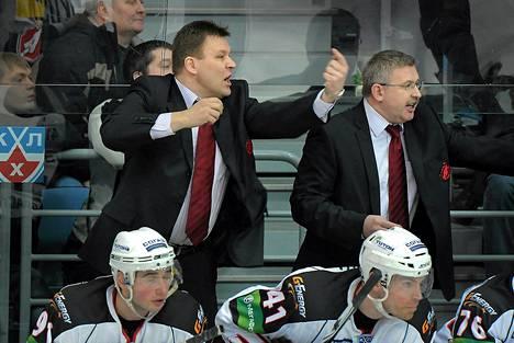 Raimo Summasen kausi jatkuu KHL:n pudotuspeleissä. Kuva viime kaudelta.