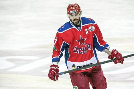 Alexander Radulov oli vireessä Pietarin SKA:ta vastaan. Kuva on ottelusta Jorereita vastaan.