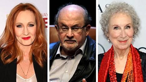 J. K. Rowling (vas.), Salman Rushdie ja Margaret Atwood.
