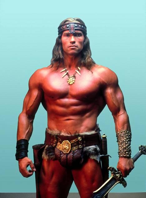 Arnold Schwarzenegger esitti Conan-barbaaria John Miliuksen 1982 ohjaamassa elokuvassa.