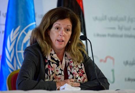 YK:n Libyaan nimittämä erityislähettiläs Stephanie Williams kertoi neuvotteluissa saavutetusta läpimurrosta Tunisian pääkaupungissa Tunisissa keskiviikkona.