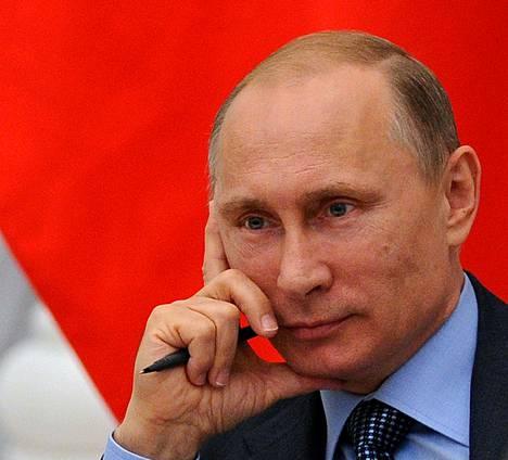 Venäjän presidentti Vladimir Putin osallistui kokoukseen Kremlissä keskiviikkona.