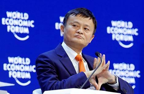 Jack Ma osallistui Maailman talousfoorumin WEF:n kokoukseen Davosissa viime viikolla.