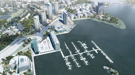Espoon kaupunki myy kahden ensimmäisen Keilaniemeen suunnitellun tornitalon tontit SRV:lle tänä kesänä.