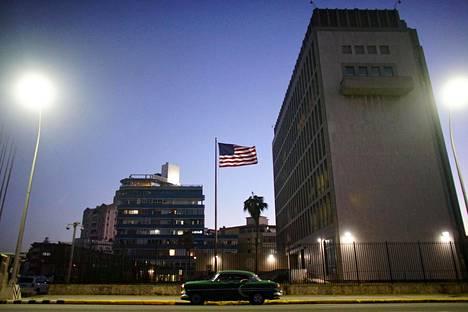 Yhdysvaltojen suurlähetystö Kuuban Havannassa viime tammikuussa.