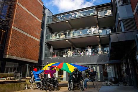 Nordbergin palvelutalon asukkaat osallistuivat ulkoaktiviteetteihin Oslossa viime viikonloppuna.