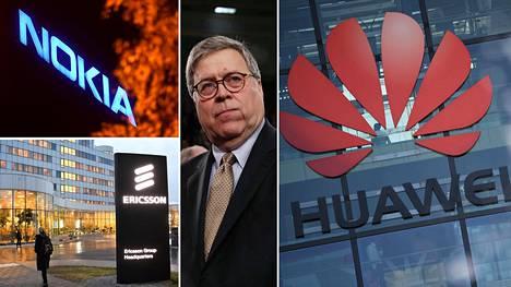 Yhdysvaltain oikeusministeri William Barr ehdotti Nokiaa ja Ericssonia amerikkalaisomistukseen Huawein aseman horjuttamiseksi