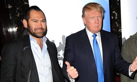 Johnny Damon ja Donald Trump kuvattiin vuonna 2015 Trump Towerissa New Yorkissa.