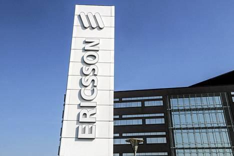 Ericssonin tehdas Lundissa Ruotsissa.