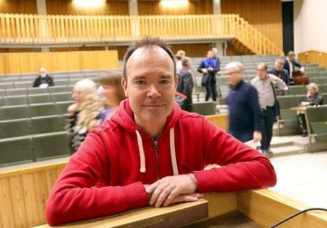 Peter Westerbacka osallistui Suomen ja Viron välisen rautatietunnelin kansalaisinfoon huhtikuussa.