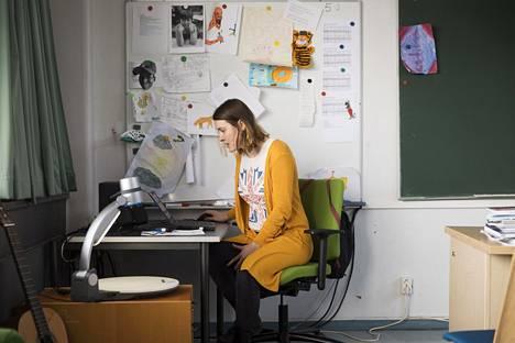 """Pia Sirkiä pyrkii järjestämään yhteisen """"kokoontumisen"""" luokkansa oppilaille päivittäin."""