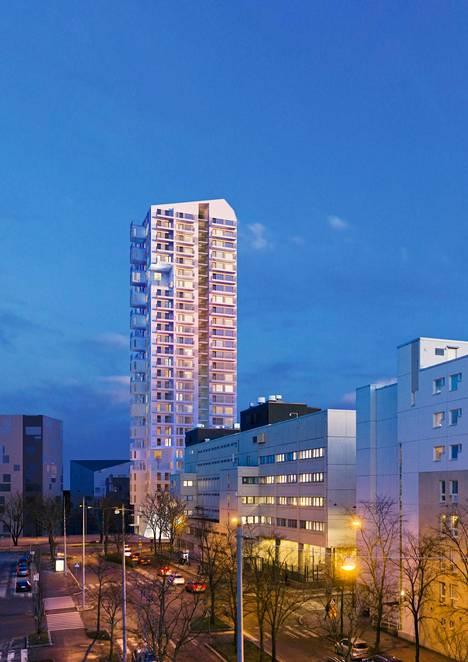 30-kerroksinen torni voisi näyttää tältä.