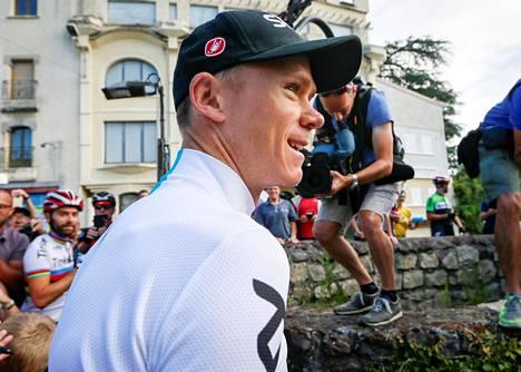 Chris Froome Ranskan ympäriajossa.
