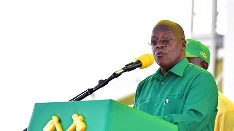 Uudelle kaudelle perjantaina valittu presidentti John Magufuli puhui kannattajilleen Dar es Salaamissa 14. lokakuuta 2020.