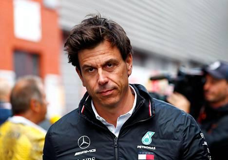 Mercedeksen tallipäällikkö Toto Wolff Span GP-kilpailussa elokuussa 2018.
