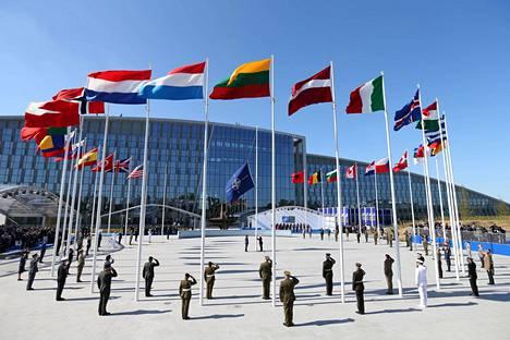 Naton uusi päämaja Brysselissä, johon muutto käynnistyy maaliskuussa.