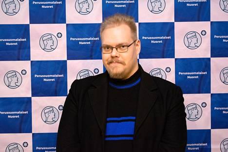 Perussuomalaisten nuorten 2. varapuheenjohtaja Toni Jalonen.