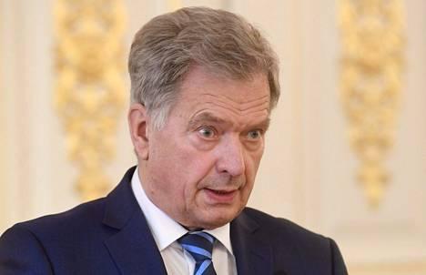Presidentti Sauli Niinistö kuvattuna 8. marraskuuta 2020 Helsingissä.
