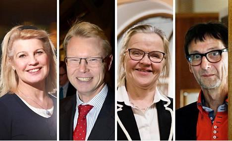 Elli Aaltonen (vas.), Mika Nykänen, Päivi Nerg ja Harri Peltoniemi