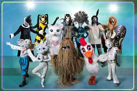 Suomen Masked Singerissä nähdään 12 naamioitua suomalaisjulkkista.