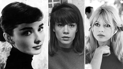 Audrey Hepburn (vas.), Françoise Hardy ja Brigitte Bardot käyttivät aikanaan usein Sonia Rykielin neuleita.