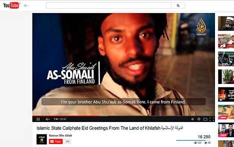 Ääri-islamistien Isis-järjestön videolla suomea puhuva mies kehottaa suomalaisiakin tulemaan kalifaattiin.