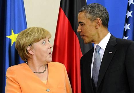 Angela Merkel ja Barack Obama tapasivat kesäkuussa 2013 Berliinissä.