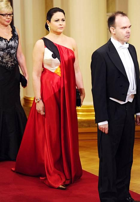 Matti Matikaisen ottama kuva Teija Vesterbackan Angry Birds -asusta Linnan juhlissa levisi maailmalle maksutta.