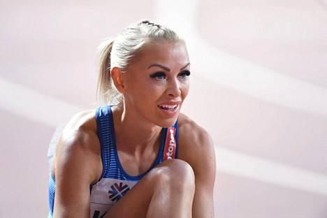 Annimari Korte kilpaili viime lokakuussa Dohassa MM-kisoissa.