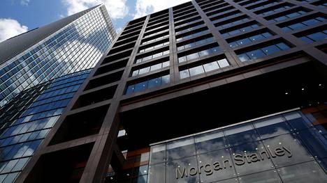 Morgan Stanleyn toimistorakennus Lontoon finanssikeskuksessa.