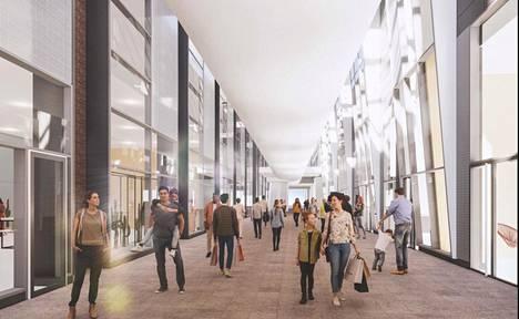 Kauppakeskus Sellon suunnitelmissa on kattaa nykyinen Ratsusola, joka kulkee kauppakeskuksen kupeessa.