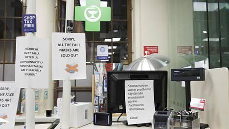 Maskit loppuivat apteekin hyllyltä myös maaliskuussa.