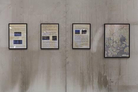 Redrick Shoehart: Maanalaisen osaston osaraportti #8/13, kolmiosainen teksti; The Dark Line; Maanalaisia kohteita ja vaelluksia, kaavamainen summittainen karttaluonnos (s.a.)
