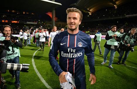 David Beckham on edustanut tammikuusta lähtien PSG:tä, joka on varmistanut Ranskan mestaruuden.