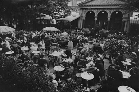 Ravintola Kappeli 1930-luvulla.