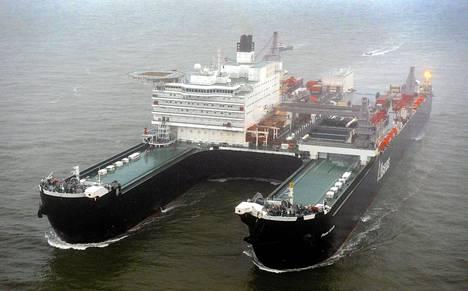 Pieter Schelte valokuvattiin aluksen saapuessa Rotterdamin satamaan viime viikon torstaina.