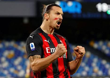 Zlatan Ibrahimovic on ollut vahvassa vireessä AC Milanin paidassa.