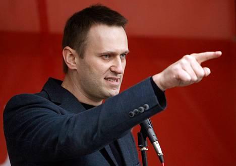 Venäjän oppositiojohtaja ja korruption vastustaja Alexei Navalnyi mielenosoituksessa Moskovassa kesäkuun alussa.
