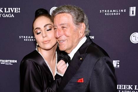Lady Gaga ja Tony Bennet juhlivat New Yorkissa.