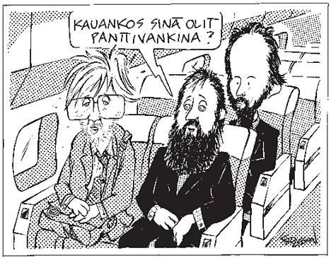 Karlssonin piirros Jolon panttivangeista ja Erkki Tuomiojasta julkaistiin 13. syyskuuta 2000.