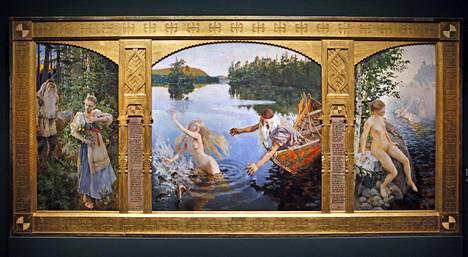 Akseli Gallen-Kallelan triptyykki Aino-taru vuodelta 1891 on herättänyt keskustelua jo vuosia.