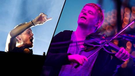 Avicii eli Tim Bergling (vas.) on innoittanut Pekka Kuusistoa.