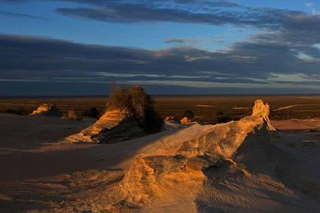 Vanhin Australiasta löydetyt ihmisen fossiilit löytyivät Mungojärven maastosta.