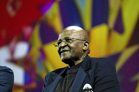 Arkkipiispa Desmond Tutu vieraili Suomessa lokakuussa 2011 Ihmisarvon päivä -tapahtumassa Espoossa.