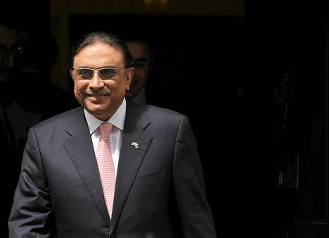 Pakistanin presidentti Asif Ali Zardari.