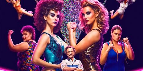 Netflixin Glow kertoo 1980-luvun showpainisarjan teosta.